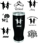 Black Double Wall Insulated Shag Pilsner with Clear Lid Everything SHAG