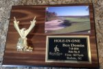 Hole in One Golf Plaque Holds Photo Golf Awards
