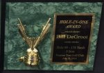 Hole in One Golf Plaque Green Golf Trophy Awards