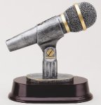Microphone - 3311 Signature Rosewood Resin Trophy Awards