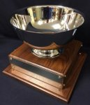 10 Paul Revere Bowl on Walnut Base SILVER CUP TROPHIES